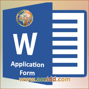 ACEIDD - Application Form